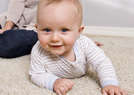 Baby on the Carpet in Shakopee, MN