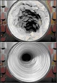 Before and After Dryer Vent Cleaning in Shakopee, MN